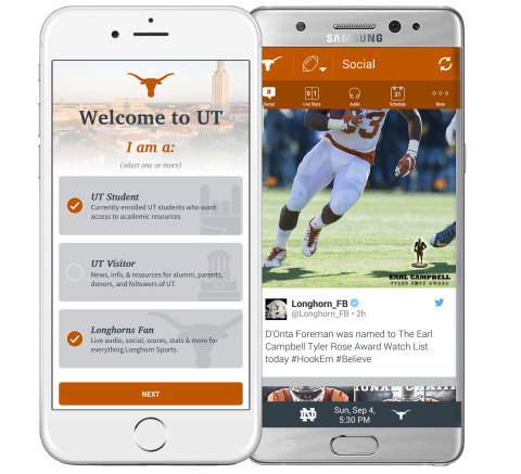 University of Texas and SportsLabs launch new mobile application for students & Longhorn fans. (Photo: Business Wire)