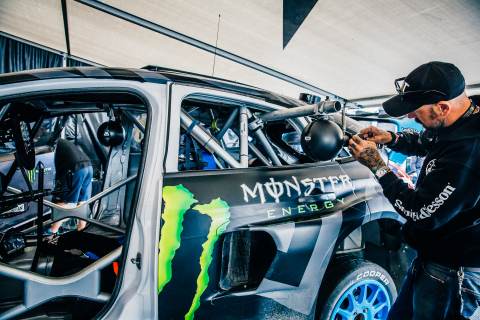 Launching today for iOS and Android users in the United States, Ford's new virtual reality app delivers a powerful storytelling platform for consumers and fans to experience Ford innovations like never before. The first story centers on the Ford GT at the 24 Hours of Le Mans. The next story to debut in September, featuring Hoonigan Racing's Ken Block and Ford Focus RS RX. Users with their push notifications turned on will get the update when new content goes live. Above, a camera is installed to capture footage for an upcoming Ford VR app story. (Photo: Business Wire)