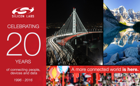 Silicon Labs celebrates 20 years of connecting people, devices and data (Photo: Business Wire)
