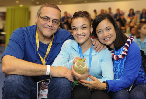 Laurie Hernandez, U.S. Olympic Gymnastics Champion, joins the P&G family as Crest® and Orgullosa ambassador. P&G, Worldwide Olympic Partner, also welcomes her mom, Wanda Hernandez, to the 'Thank You Mom' family. (Photo: Business Wire)