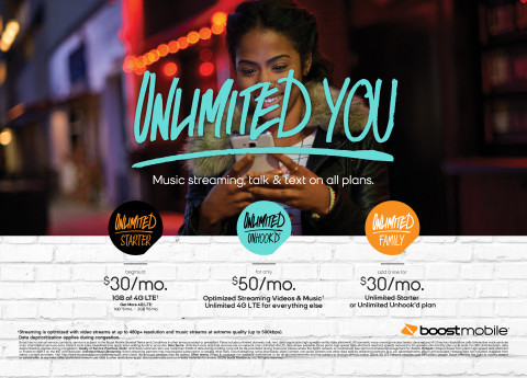 Also, beginning Friday, Aug. 19, Sprint's leading prepaid brand, Boost Mobile cuts through the no-contract clutter with a new simplified unlimited offer, Unlimited Unhook'd. (Graphic: Business Wire)