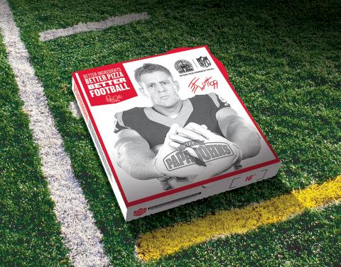 J.J. Watt's first national, NFL-themed pizza box for Papa John's (Photo: Business Wire)