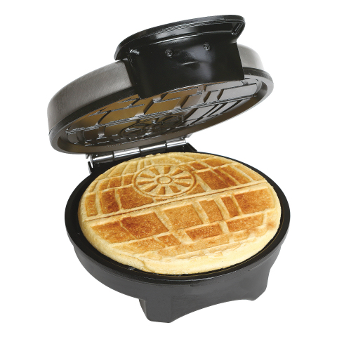 Star Wars Death Star Waffle Maker – Designed for fans of the original and rebooted Star Wars saga, this waffle maker creates waffles in the image of the Death Star. A collectible item, it features a regulating thermostat and dual indicator lights that tell you when the iron is hot and when your waffle is ready. (Photo: Business Wire)