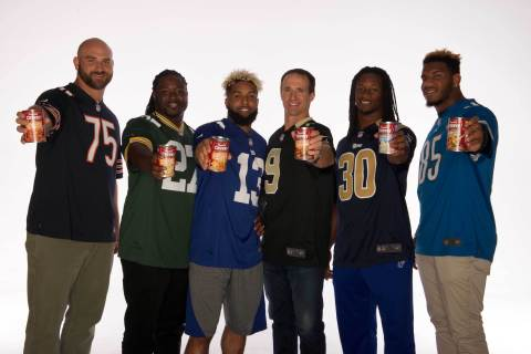 Campbell's® Chunky™ soup, the Official Soup Sponsor of the NFL, has enlisted six NFL players, Drew Brees, Odell Beckham Jr., Eddie Lacy, Todd Gurley, Eric Ebron and Kyle Long, to star in the new Everyman All-Star League campaign. (Photo: Business Wire)