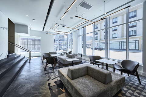 Lounge at Andaz Ottawa ByWard Market; photography credit: Josh Hotz