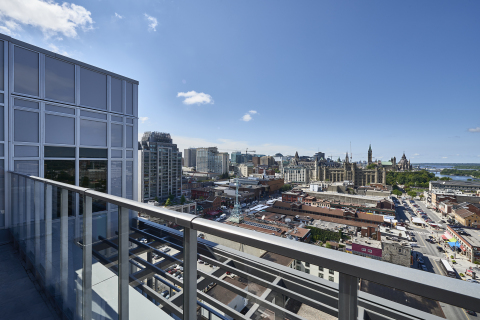 Rooftop lounge view at Andaz Ottawa ByWard Market; photography credit: Josh Hotz