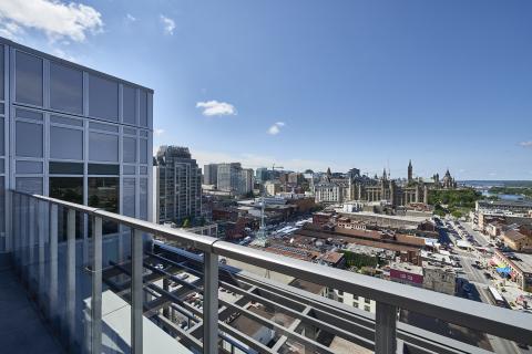 Rooftop lounge view at Andaz Ottawa ByWard Market; photography credit: Josh Hotz