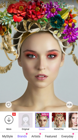 Try on Beyonce crown designed by Laurel Dewitt in Perfect365. (Photo: Business Wire)