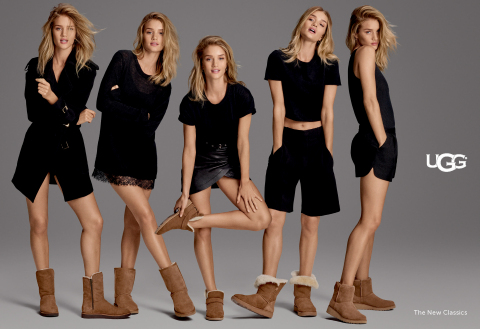 UGG Global Women's Ambassador Rosie Huntington-Whiteley seen in five new silhouettes (Photo: Business Wire)