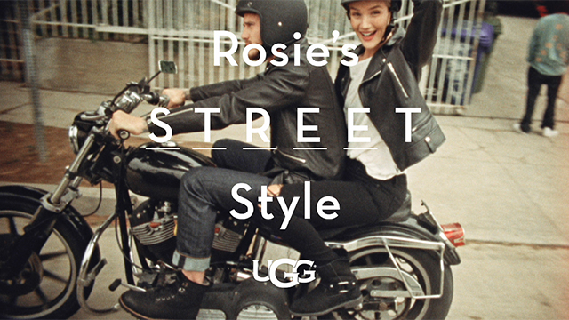 Global Women's Ambassador Rosie Huntington-Whiteley in the new UGG® Classic Street Collection