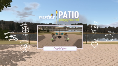 Wayfair launches Patio Playground virtual reality app to customize outdoor spaces with furnishings a ...