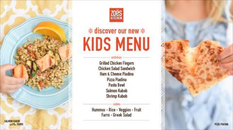 Zoes Kitchen Menu zoës kitchen usa, llc - zoës kitchen appeals to generation z with