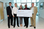 The Committee for a Better New Orleans was awarded a $16,000 grant August 23, 2016, by the Federal Home Loan Bank of Dallas and Gulf Coast Bank & Trust in New Orleans. Pictured from left to right are Greg Hettrick, Guy Williams, Nicole Dillard, Anthony Carter, and Keith Twitchell. (Photo: Business Wire)