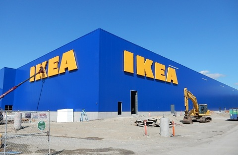 Swedish retailer IKEA to install Washington's largest rooftop solar array on relocated store opening Spring 2017 in Renton, WA (Photo: Business Wire)