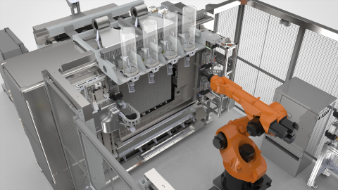 The Stratasys Infinite-Build 3D Demonstrator for producing large tools and production parts is designed for accuracy, repeatability, and speed for custom OEM production and on-demand aftermarket disruption. (Photo: Business Wire)