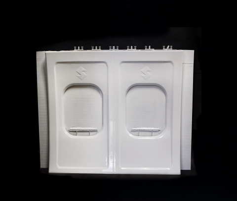 Stratasys Infinite-Build 3D Demonstrator part Aircraft Panel. (Photo: Business Wire)