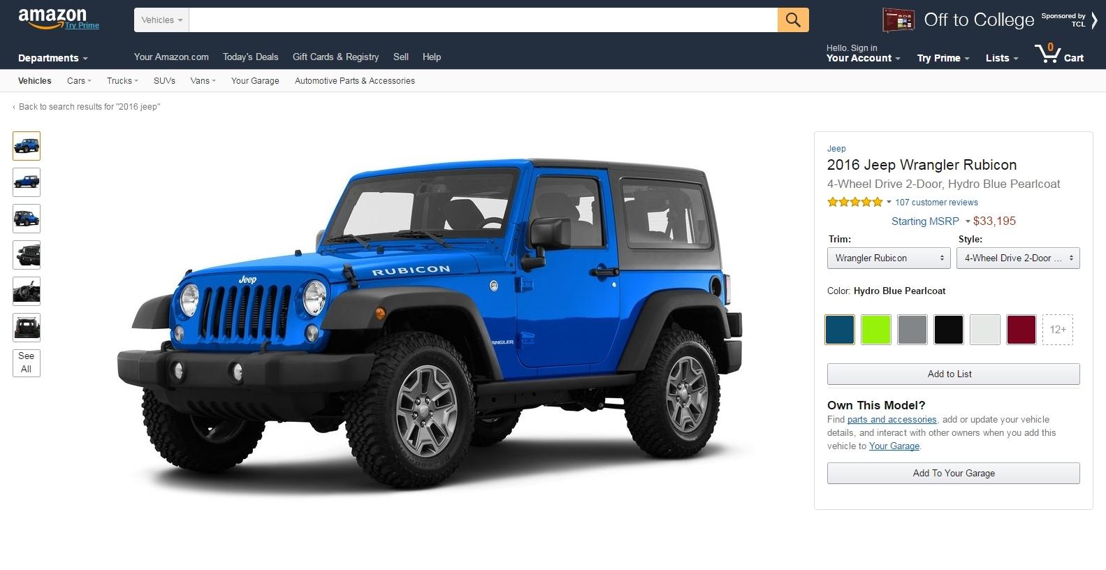 introducing amazon vehicles a car research destination