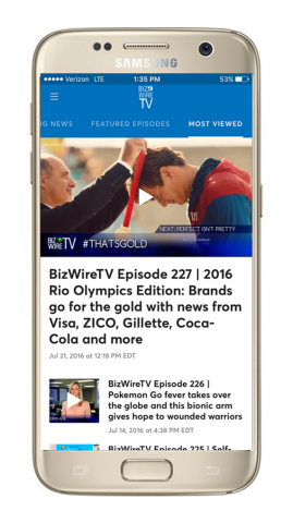 BizWireTV launches a series of apps (Photo Business Wire)