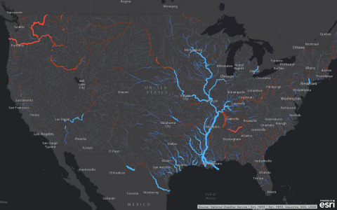 Smart mapping leader Esri today released a robust collection of web maps that display NOAA forecast  ...