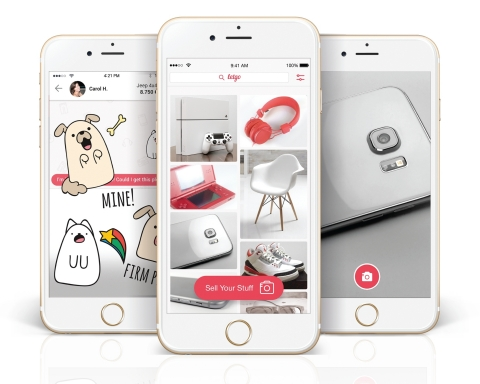 letgo's rapidly growing mobile app is among the most popular shopping apps of 2016 (Photo: Business Wire)
