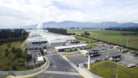 Corona's state-of-the-art manufacturing facility outside of Bogota, Colombia, produces ceramic tile for customers in the U.S. (Photo: Business Wire)