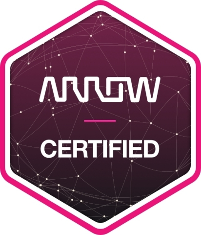 """Indiegogo campaigns deemed """"ready for manufacturing"""" will be denoted with official """"Arrow-Certified"""" badges on their campaign site to let potential backers know the project is ready for production. (Graphic: Business Wire)"""