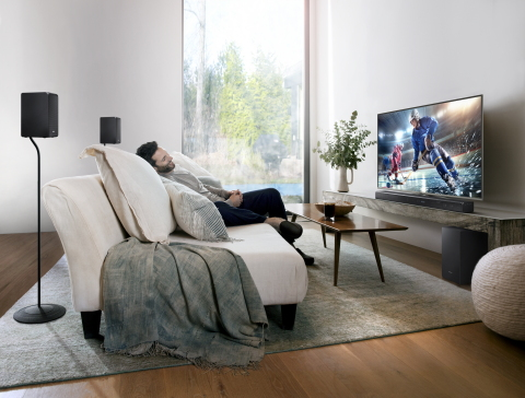 The Samsung HW-K950 soundbar brings to life the sounds of music, movies, television shows and video games. (Photo: Business Wire)