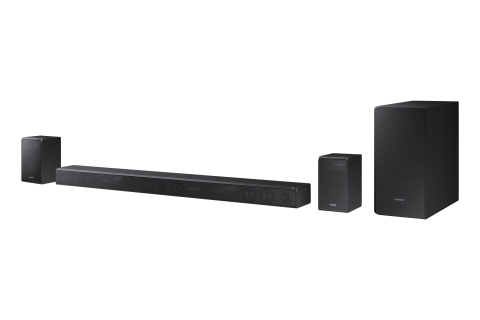 The new Samsung HW-K950 and HW-K850 soundbars featuring Dolby Atmos. (Photo: Business Wire)