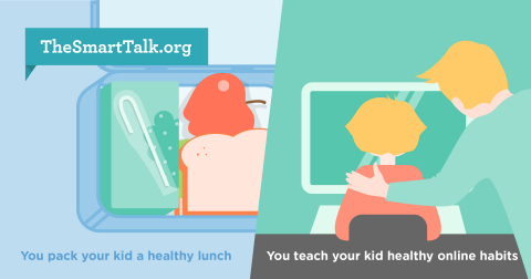 The Smart Talk is a free, online tool to help parents have a technology safety talk with their kids. Visit TheSmarttalk.org for more details. (Graphic: Business Wire)