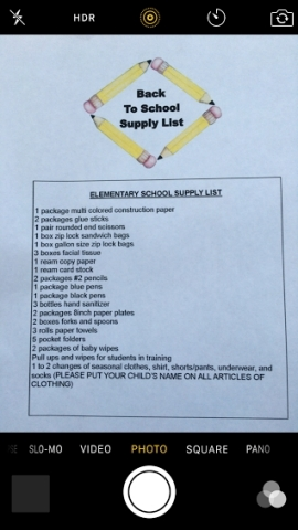 Scan your school supply list and submit through the iOS app for easy shopping. (Graphic: Business Wire).