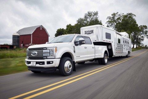 Ford, America's truck leader, is taking heavy-duty trucks to the next level with the all-new 2017 F-Series Super Duty - empowering customers with the most towing and hauling capability and the most horsepower and torque of any heavy-duty pickup truck. (Photo: Business Wire)