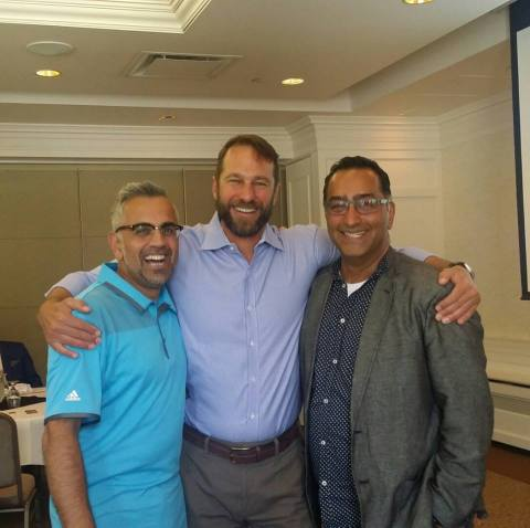 Brightsquid founders celebrate the release of Secure Health Exchange at an event in Calgary. (Photo: Business Wire)
