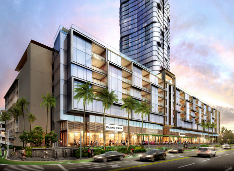 Anaha streetscape rendering at Ward Village being developed by The Howard Hughes Corporation (Photo: Business Wire)