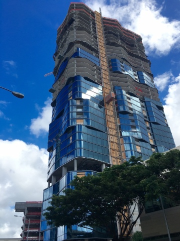 Anaha tower under construction in Honolulu in Ward Village by The Howard Hughes Corporation (Photo: Business Wire)