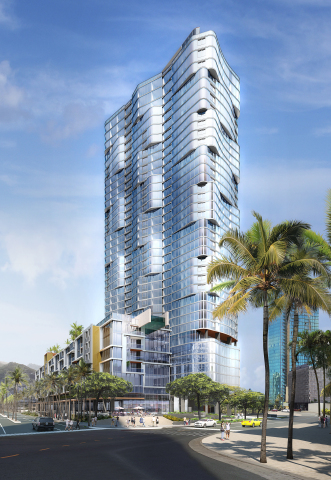 Anaha Tower rendering at Ward Village in Honolulu under development by The Howard Hughes Corporation ...