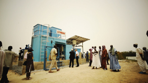Installation of Yamaha Clean Water Supply System (Senegal,2012) (Photo: Business Wire)