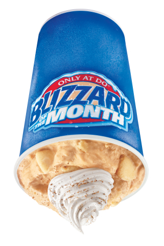 The Pumpkin Pie Blizzard Treat is a smooth and creamy combination of pumpkin pie pieces and classic DQ® vanilla soft serve that's crowned with whipped topping and a touch of nutmeg. (Photo: Business Wire)