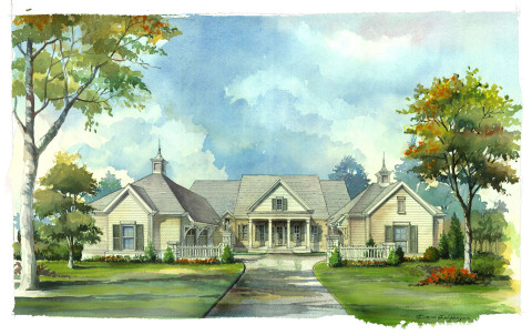 2016 Southern Living Custom Builder Program Showcase Home by Hatcliff Construction. Located within The Grove community in Williamson County, TN.