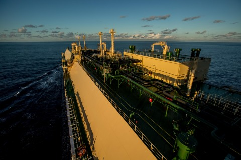 The Asia Excellence (pictured) is one of six new liquefied natural gas (LNG) carriers that will support Chevron's growing global LNG business. Chevron is nearing completion of the largest shipbuilding and fleet modernization program in recent corporate history with the introduction of 13 new ships to our fleet between 2013 and 2017, including the new LNG carriers. (Photo: Business Wire)