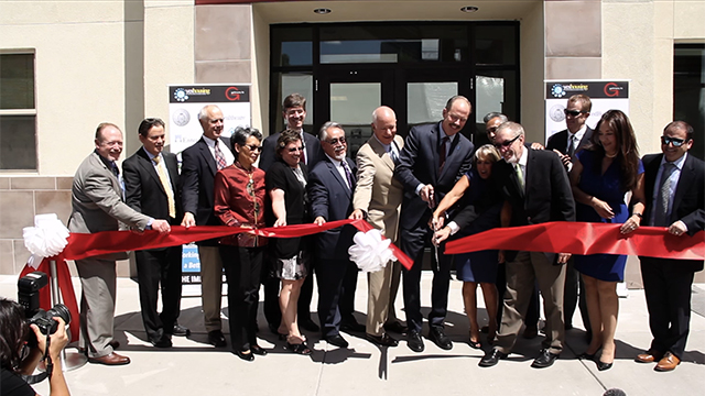 Albuquerque Mayor Richard Berry and Congresswoman Michelle Lujan-Grisham join community leaders and project partners to officially cut the ribbon celebrating the opening of the Imperial Building, a new 74-unit mixed-use apartment community in downtown (Video: Marcos Baca).