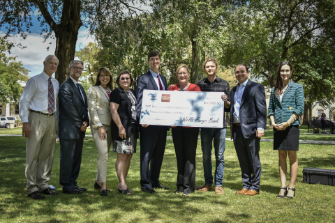 The 20-year-old Downtown Growers' Market in Albuquerque, New Mexico, is itself growing with the help of a $10,000 Partnership Grant Program award to its parent organization, the DowntownABQ MainStreet Initiative. The grant was awarded August 29, 2016, in a ceremonial check presentation from Wells Fargo and the Federal Home Loan Bank of Dallas. (Photo: Business Wire)