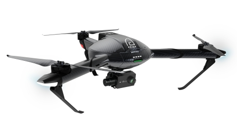 YI Erida is the first full carbon-fiber, tri-copter drone featuring 4K video. (Photo: Business Wire)