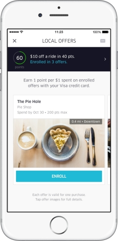 Uber Local Offers with Visa (Photo: Business Wire)