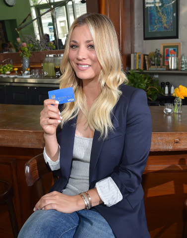 Actress Kaley Cuoco partners with Visa to debut Uber Local Offers. (Photo: Business Wire)