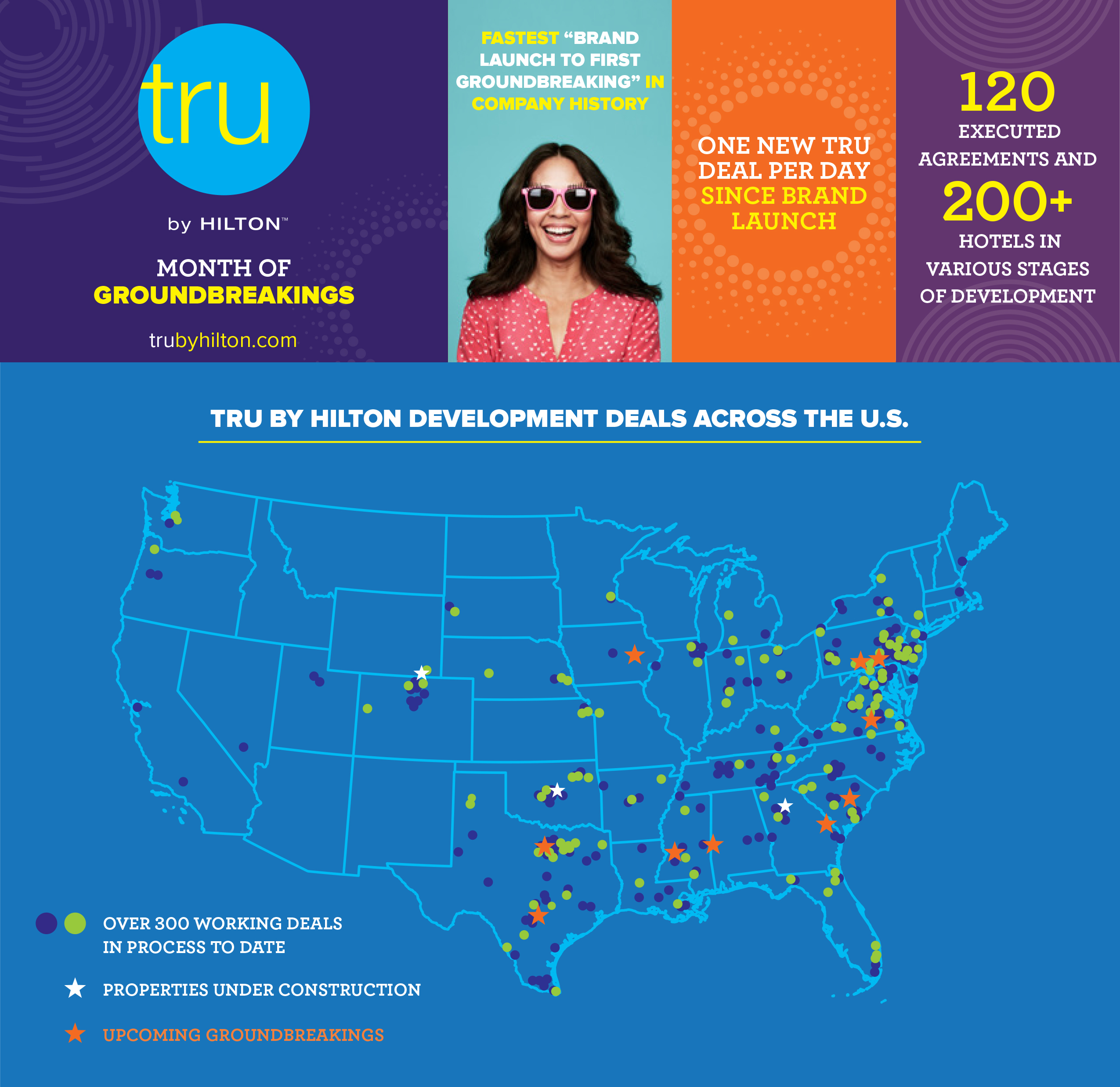 Tru by Hilton Announces Month of Groundbreaking Celebrations