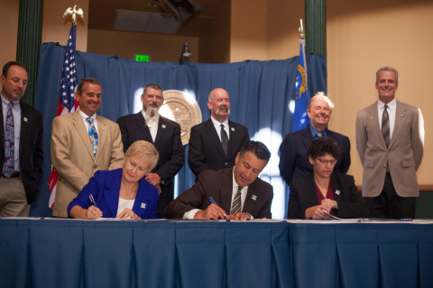Sagebrush Ecosystem Conservation Program Signing Ceremony in Carson City, Nevada. (Photo: Business W ...