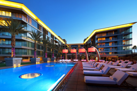 The WET Deck at W Scottsdale- one of the many areas of the hotel that will be turned into a stage fo ...