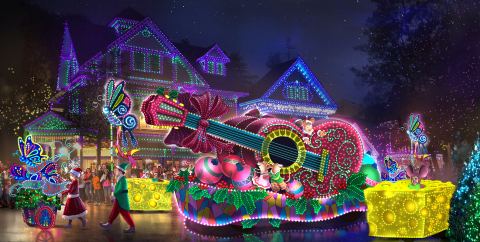 Dollywood's Parade of Many Colors will feature several vibrant floats, interactive characters and other surprises sure to delight families during the park's Smoky Mountain Christmas presented by Humana. (Photo: Business Wire)