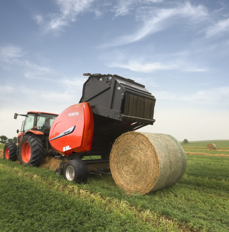 Kubota introduces the BV4580, a new round baler designed for dairy and cattle producers. (Photo: Business Wire)