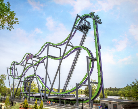 The Joker Free-Fly Coaster will open at Six Flags Over Texas in spring 2017. (Photo: Business Wire)